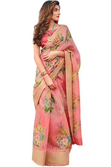 linen cotton saree
