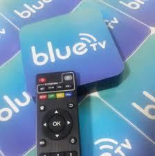 blue television