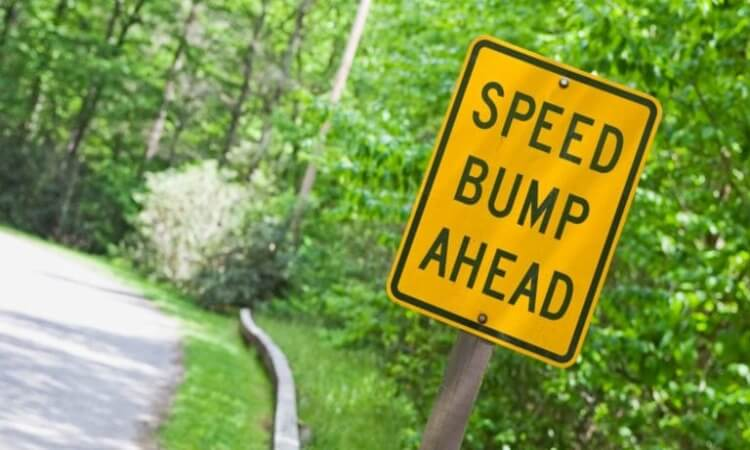lowered cars speed bumps